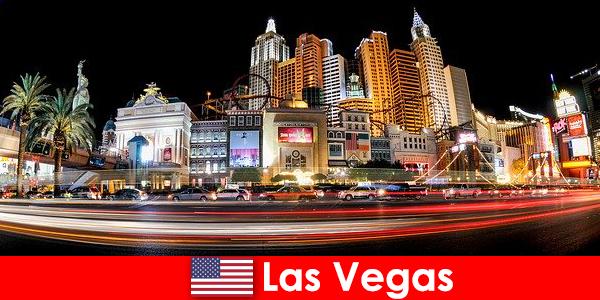 Las Vegas modal dunia hiburan makanan asing dengan kehidupan malam