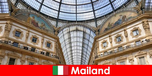 Suasana misteri di Milan dengan simbol Renaissance