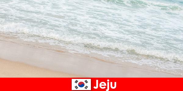 Jeju dengan pasirnya yang halus dan air yang jernih tempat yang ideal untuk percutian keluarga di pantai