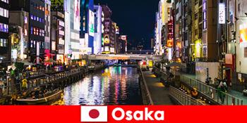 Daerah hiburan dan makanan menanti pelancong asing di Osaka Jepun