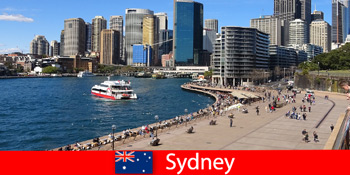 Pemandangan panorama di seluruh bandar Sydney Australia untuk pelawat dari seluruh dunia