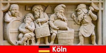 Seni bir dengan masakan tempatan di Cologne Jerman untuk tetamu mingguan Eropah